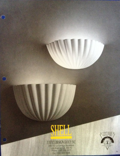 Ceramic Shell - Available from Justice Lighting Group - Lighting fixture design by Trish Odenthal