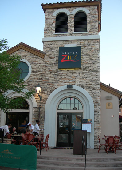 Bistro Zink, Lake Las Vegas, Nevada, Lighting by Trish Odenthal Lighting Design