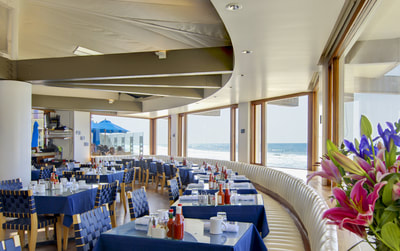Boathouse, Hendry's Beach, Santa Barbara, California, Lighting by Trish Odenthal Lighting Design