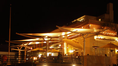 Chucks Waterfront Grill, Santa Barbara, California, Lighting by Trish Odenthal Lighting Design