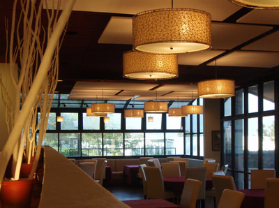 SBCC Gourmet Dining, Santa Barbara, California, Lighting by Trish Odenthal Lighting Design